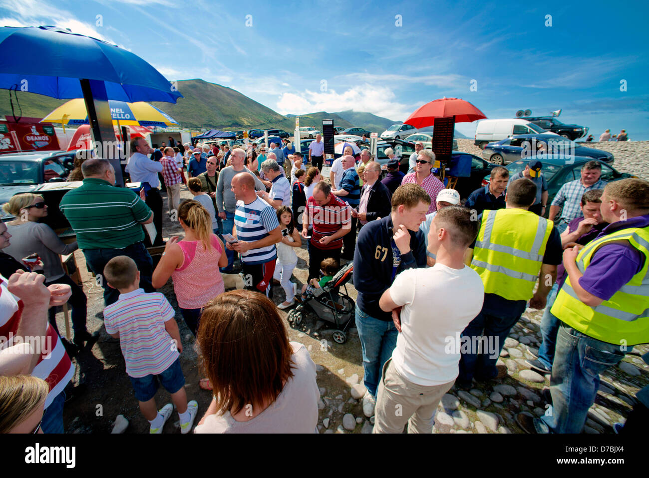 Glenbeigh Races at Rossbeigh beach Kerry - Stock Image