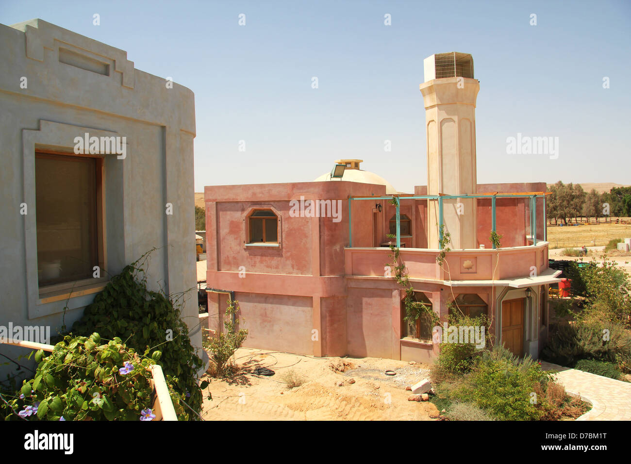 The winery of Kibbutz Neot Smadar in the southern Negev - Stock Image