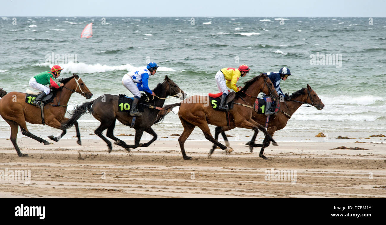 Glenbeigh Races at Rossbeigh beach Kerry Stock Photo