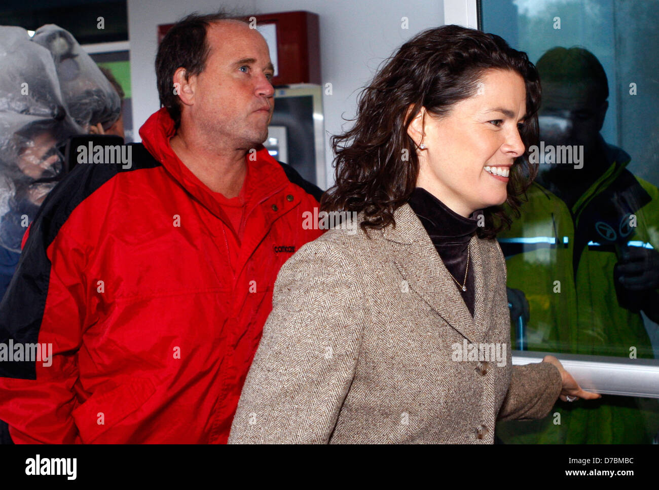 Nancy Kerrigan (L) former Olympic figure skater Nancy Kerrigan arrives at Middlesex Superior Court Woburn, Massachusetts - Stock Image
