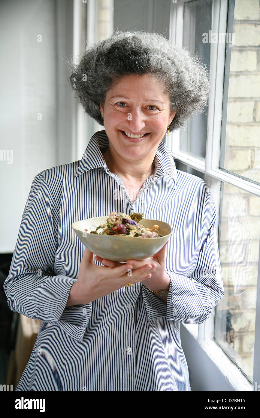 Annissa Helou, Chef and cook book author specializing in Middle Eastern cuisine. - Stock Image