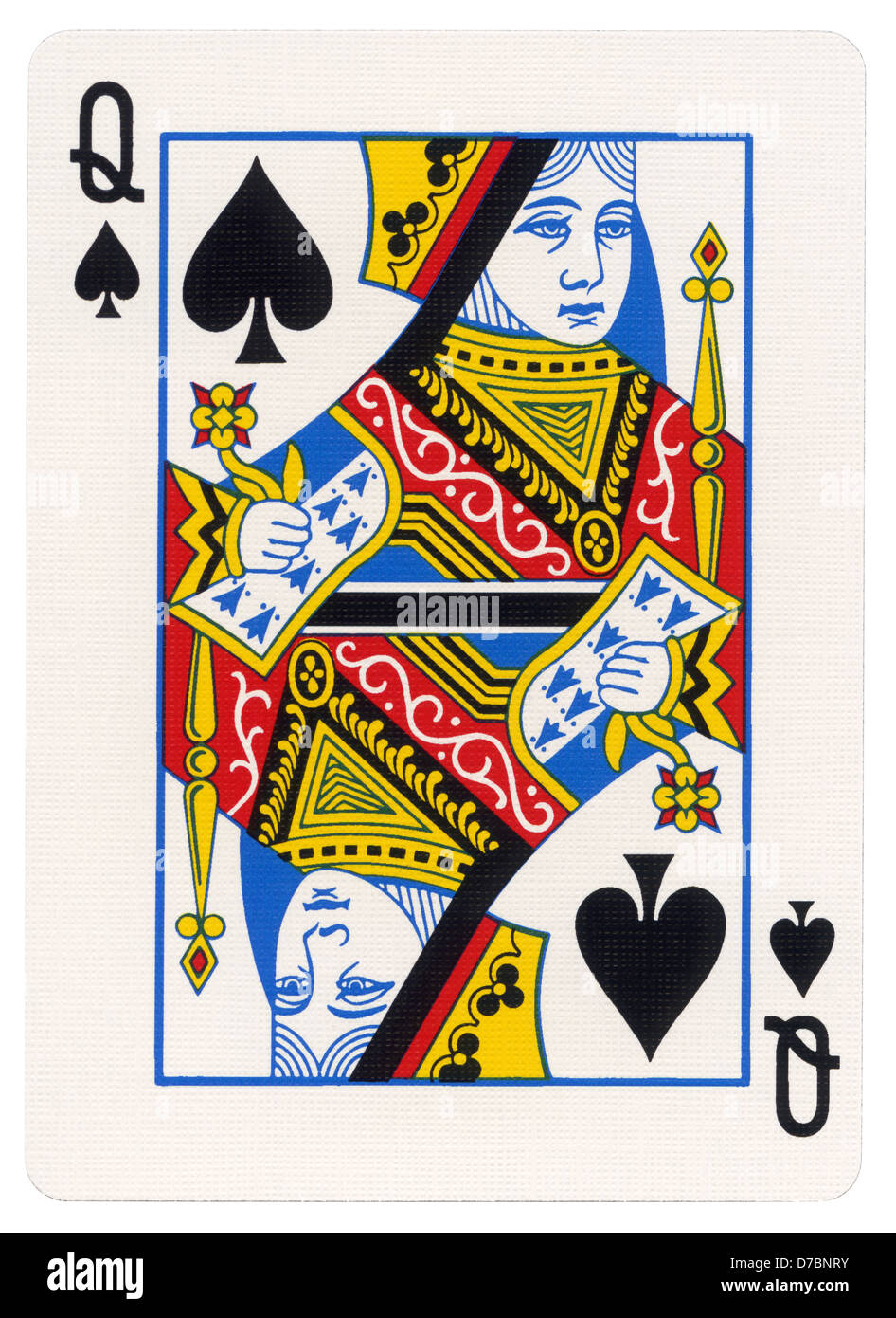 queen of spade card  Queen Of Spades Cut Out Stock Images & Pictures - Alamy