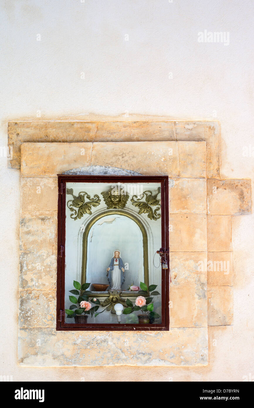 Europe Italy, Sicily,Ragusa,Ibla, a tabernacle in the country center - Stock Image