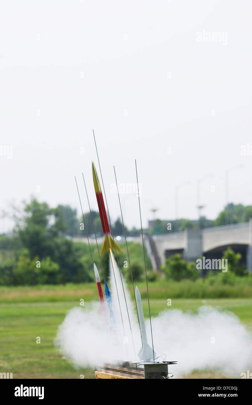 A Rocket Made In Science Class;Ottawa Ontario Canada - Stock Image