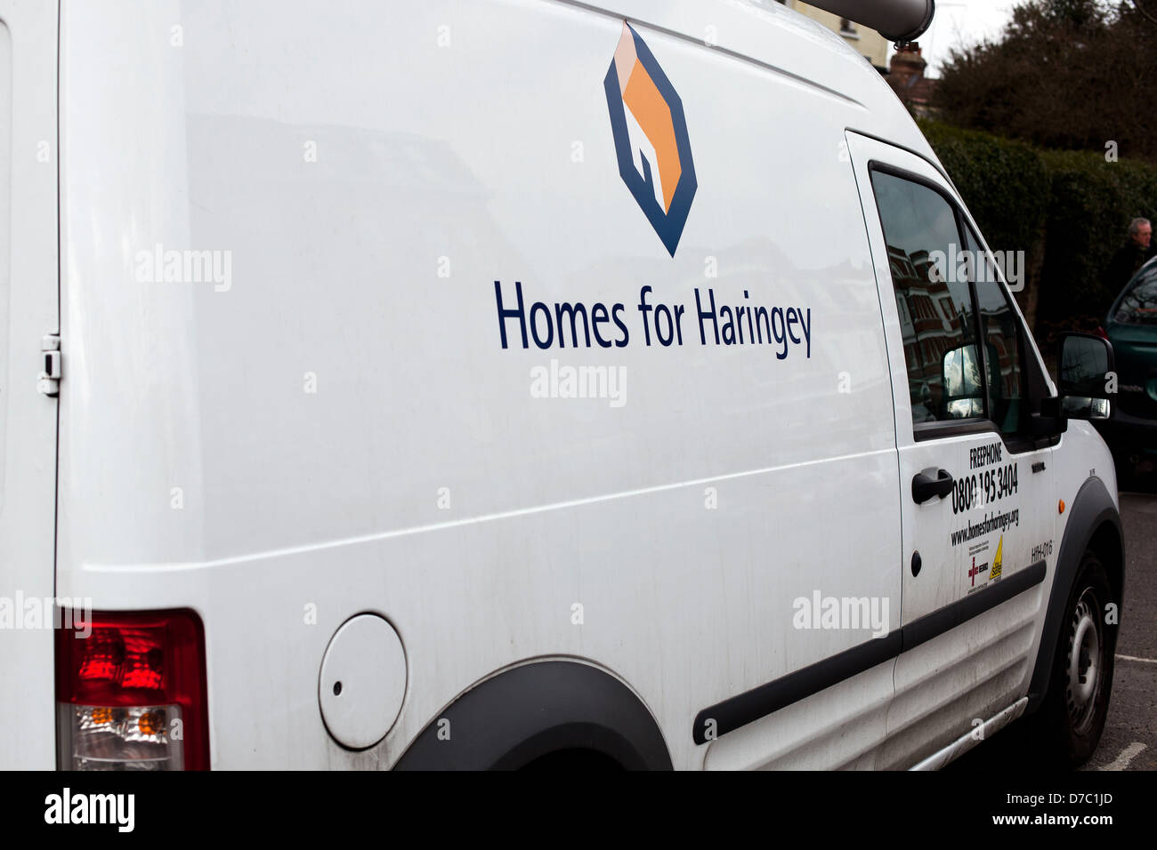 Haringey Council van - Stock Image
