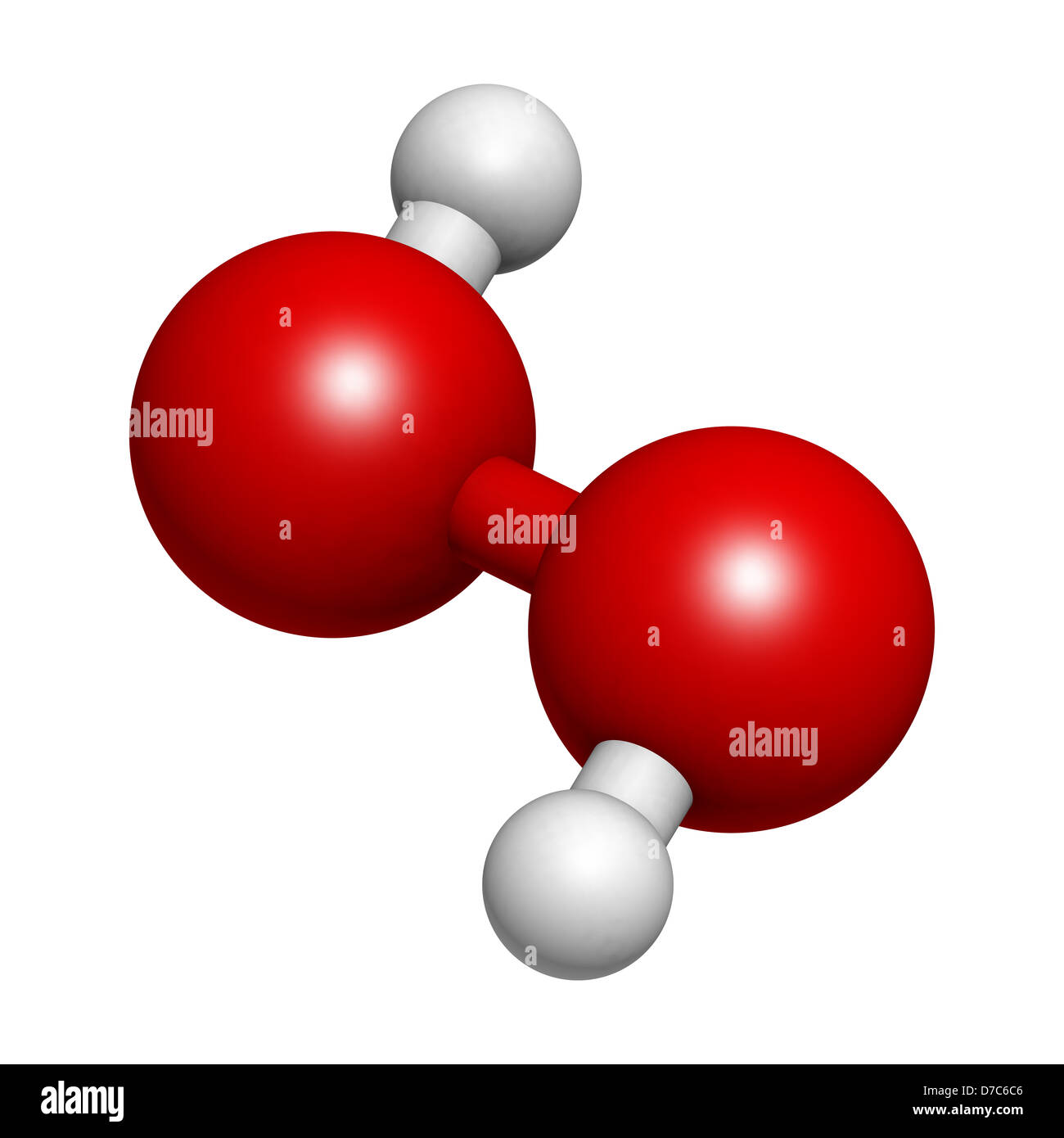 Hydrogen Peroxide  H2o2  Molecule  Chemical Structure  Hooh Is An Stock Photo  56202166