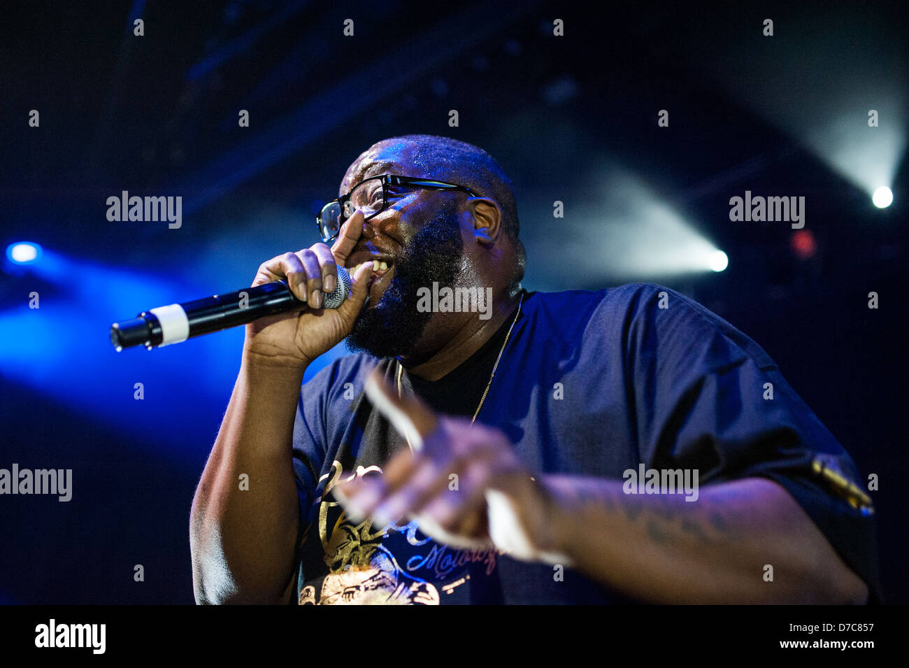 Hip-hop artist Killer Mike performing on May 1, 2013 at Park West in Chicago. Credit: Max Herman/Alamy Stock Photo
