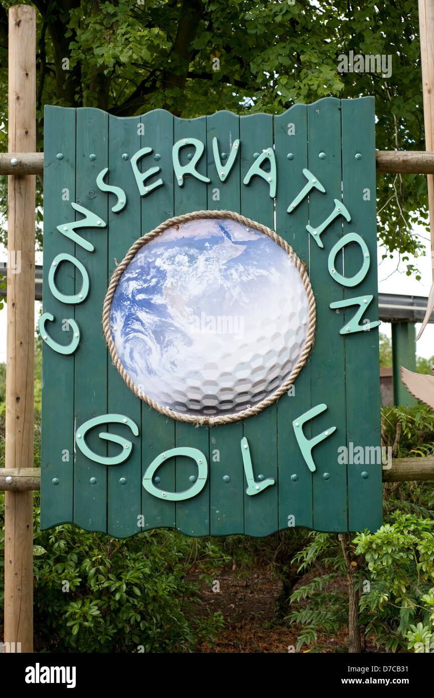 Conservation Golf Green Environmental Sign Ball - Stock Image