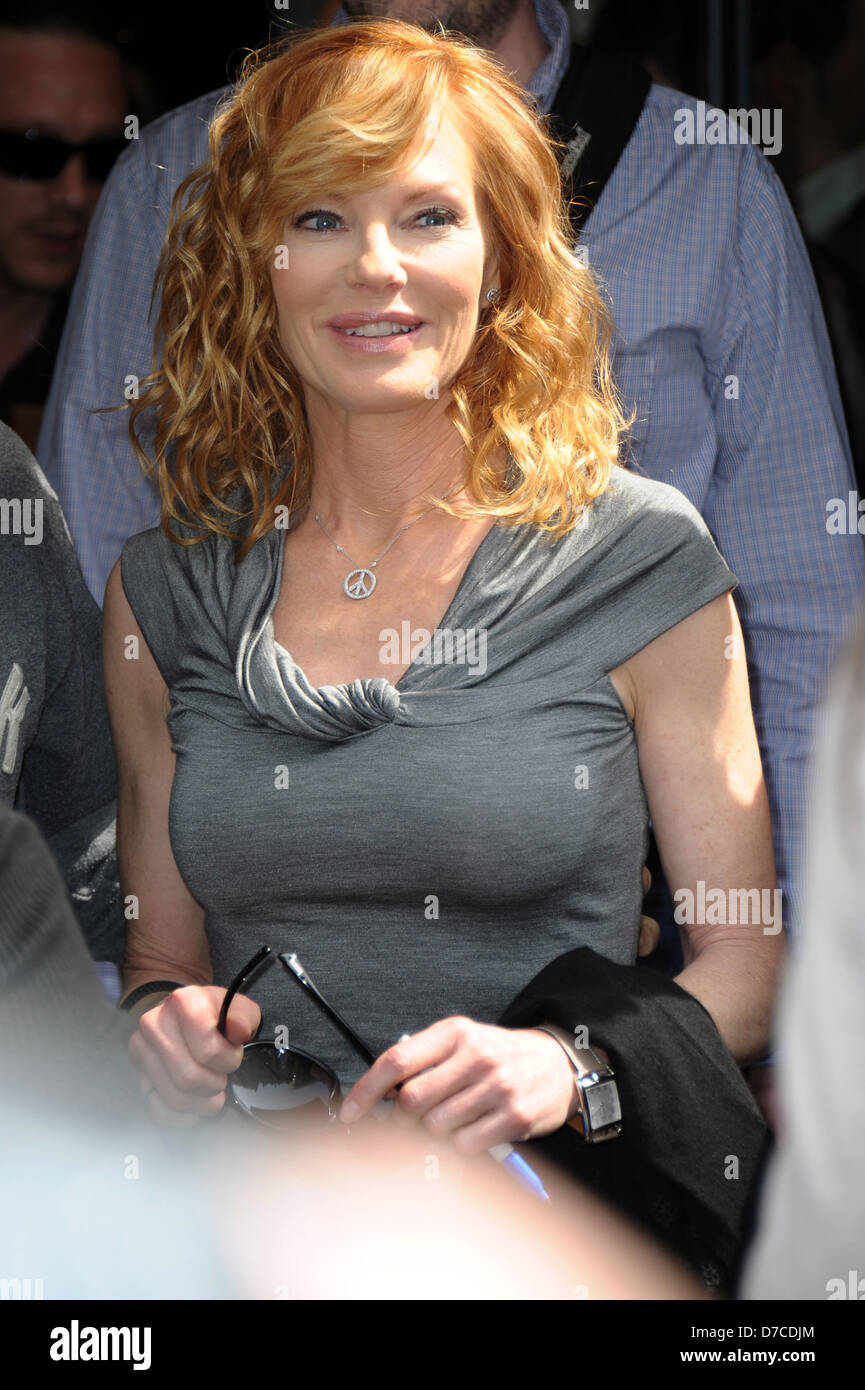 Marg Helgenberger at Europe 1 to be a guest on the Jean-Marc Morandini radio show Paris, France - 06.05.11 - Stock Image