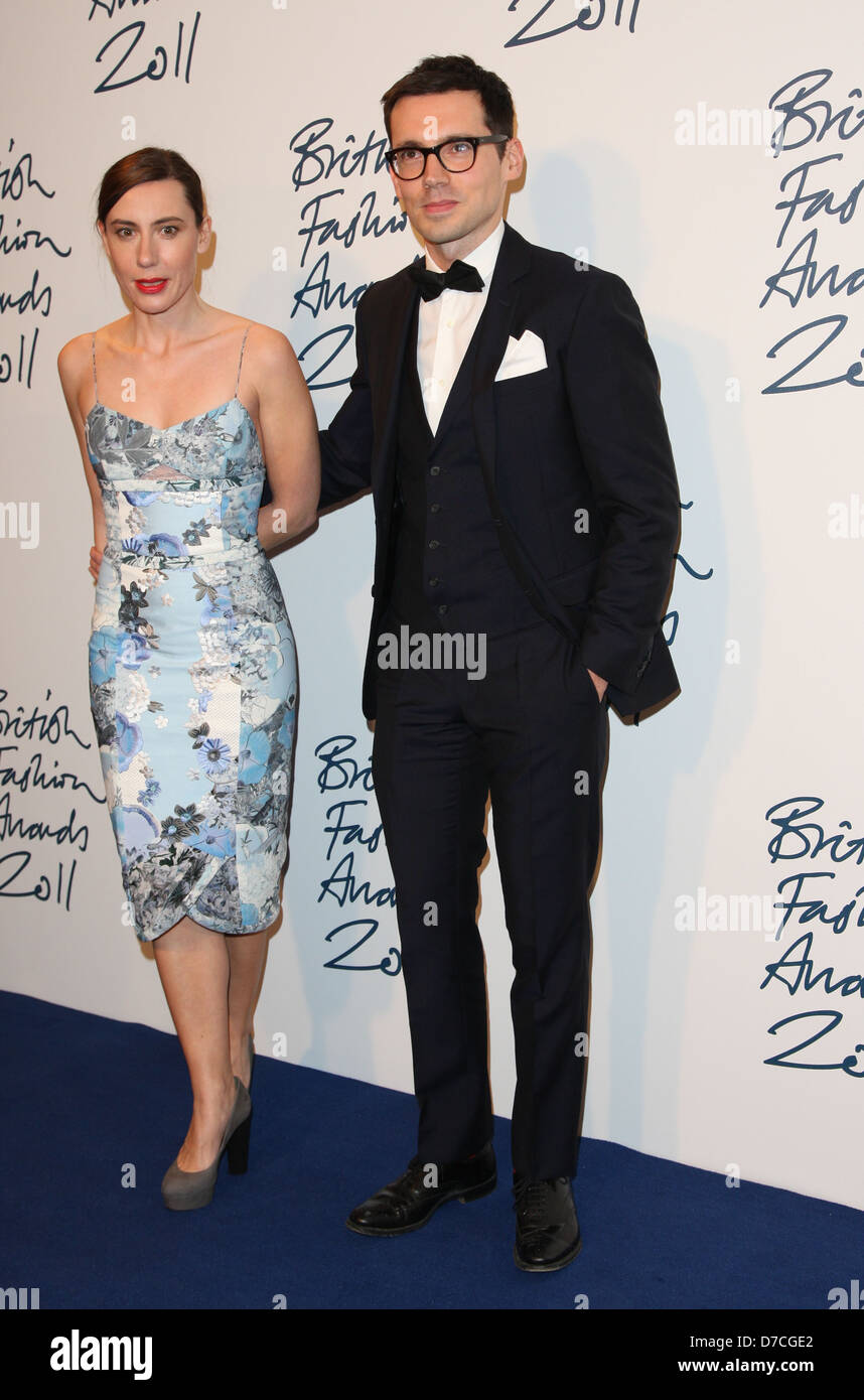 Sara Moralioglu and Erdem Moralioglu The British Fashion Awards 2011 held at the Savoy - Arrivals London, England - Stock Image
