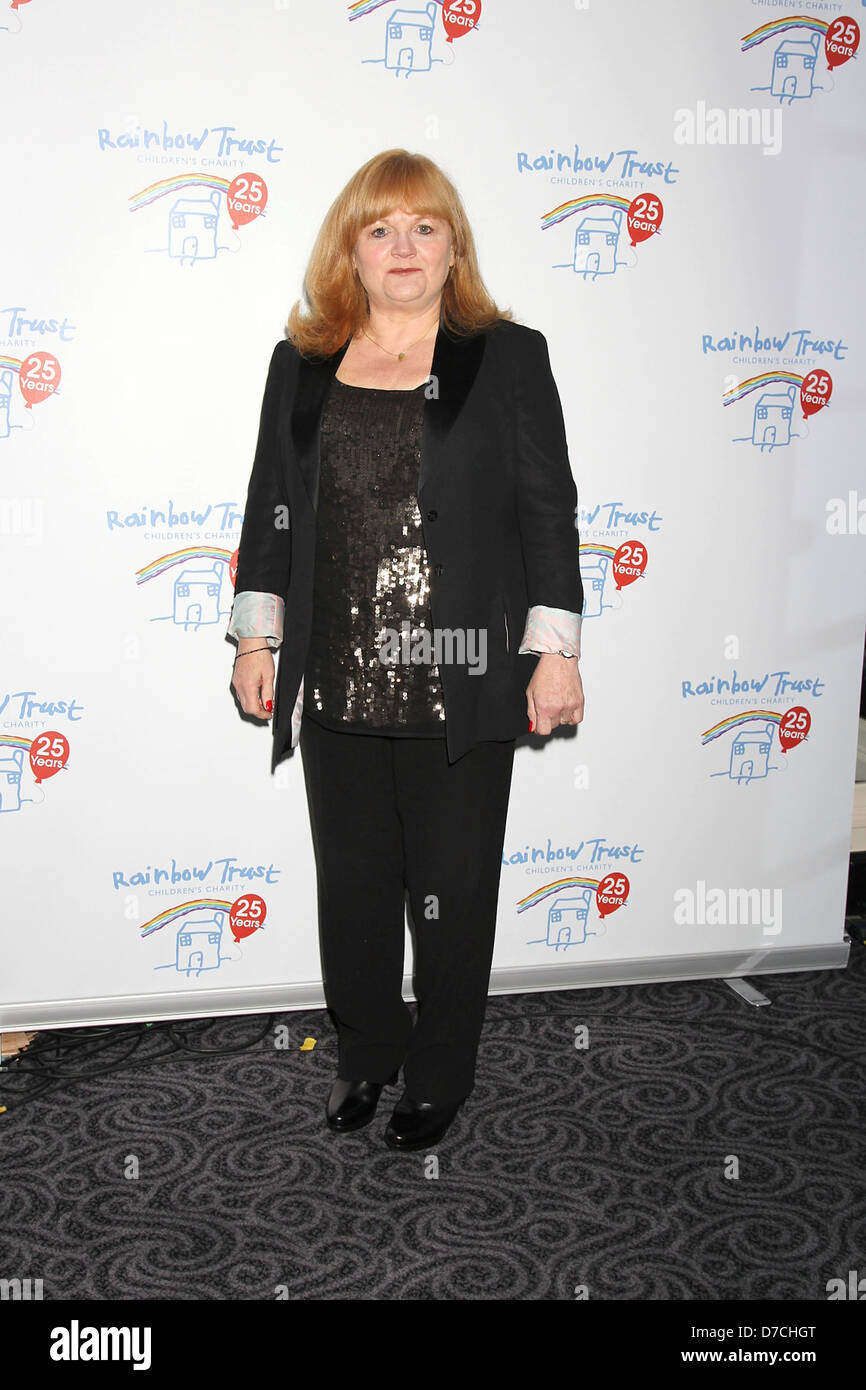 Lesley Nicol, at the Rainbow Trust: Silver Jubilee Ball at The Savoy Hotel. London, England - 13.10.11 - Stock Image