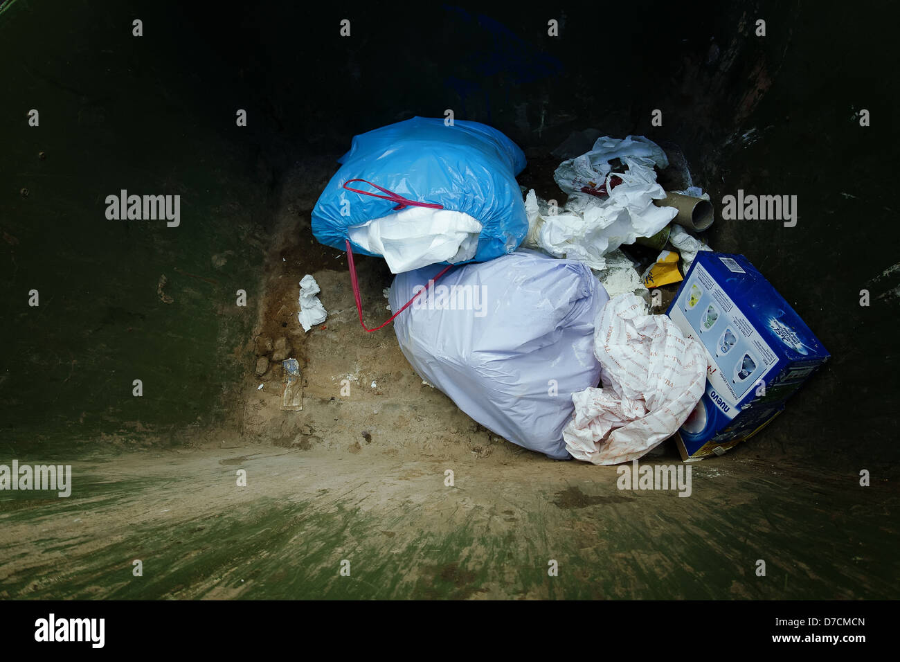 Trash container - Stock Image