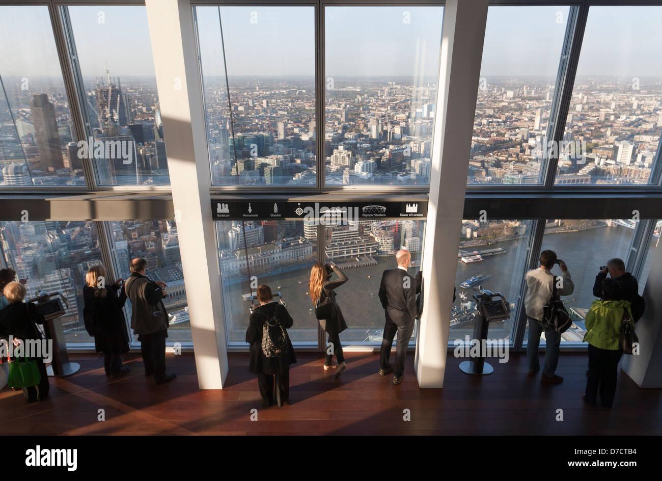 People On Top Floor Of The Shard London Stock Photo 56216248 Alamy
