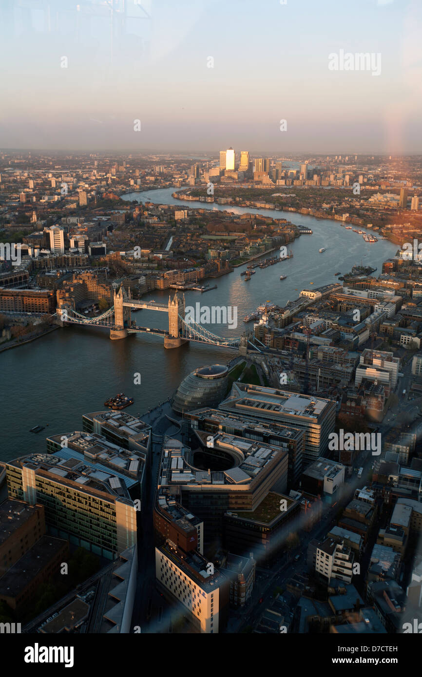 View Of East London From The Shard