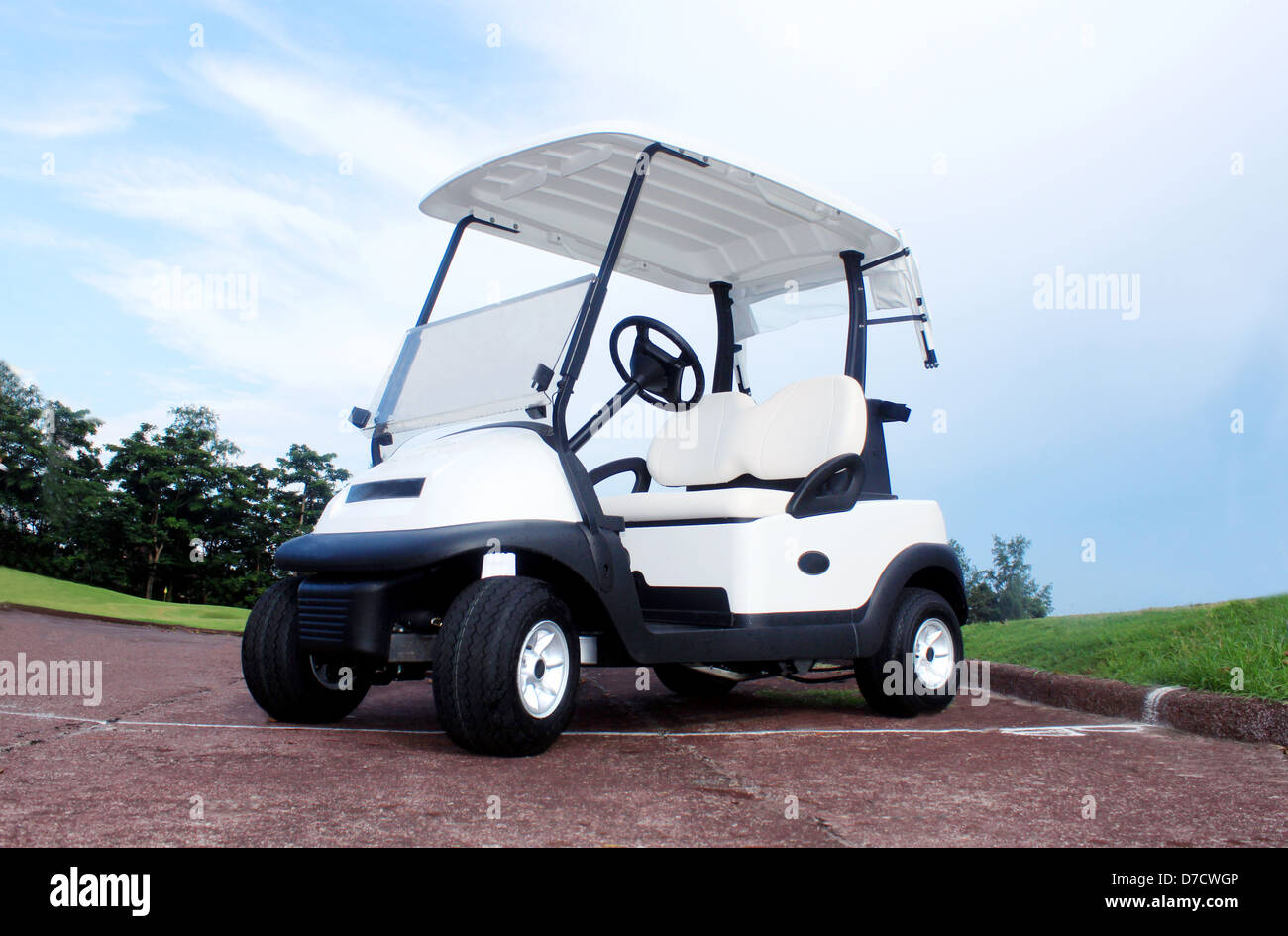 Brand new electric golf cart - Stock Image