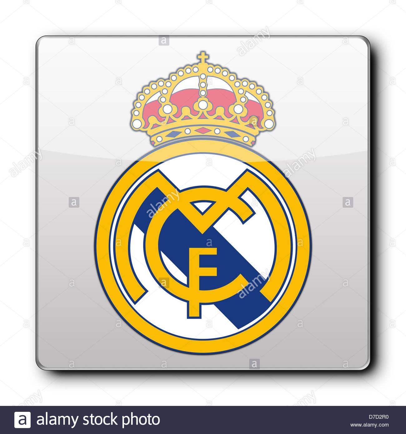 Real madrid logo icon app banner flag stock photo 56221284 alamy real madrid logo icon app banner flag voltagebd Choice Image
