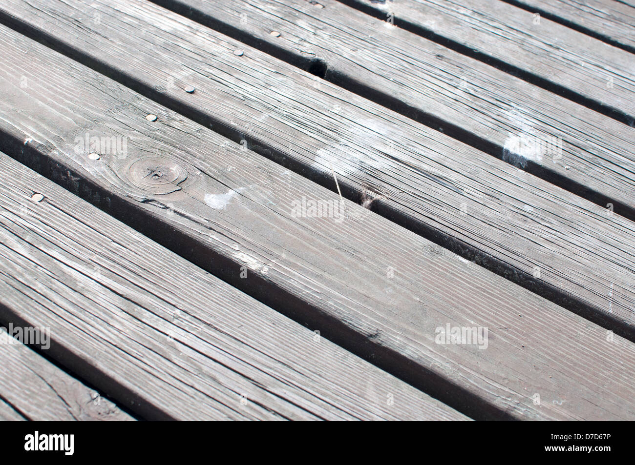 Diagonal planks - Stock Image