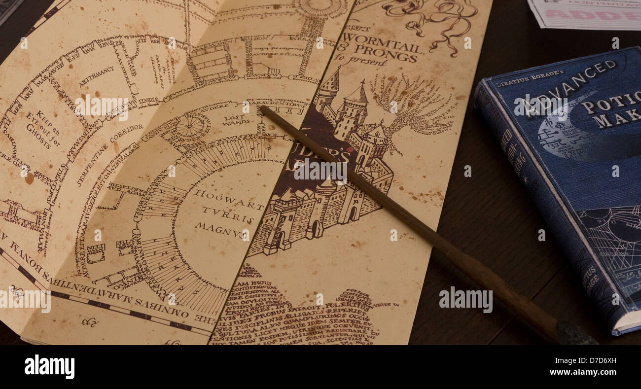 marauder's map and advanced potion-making - Stock Image