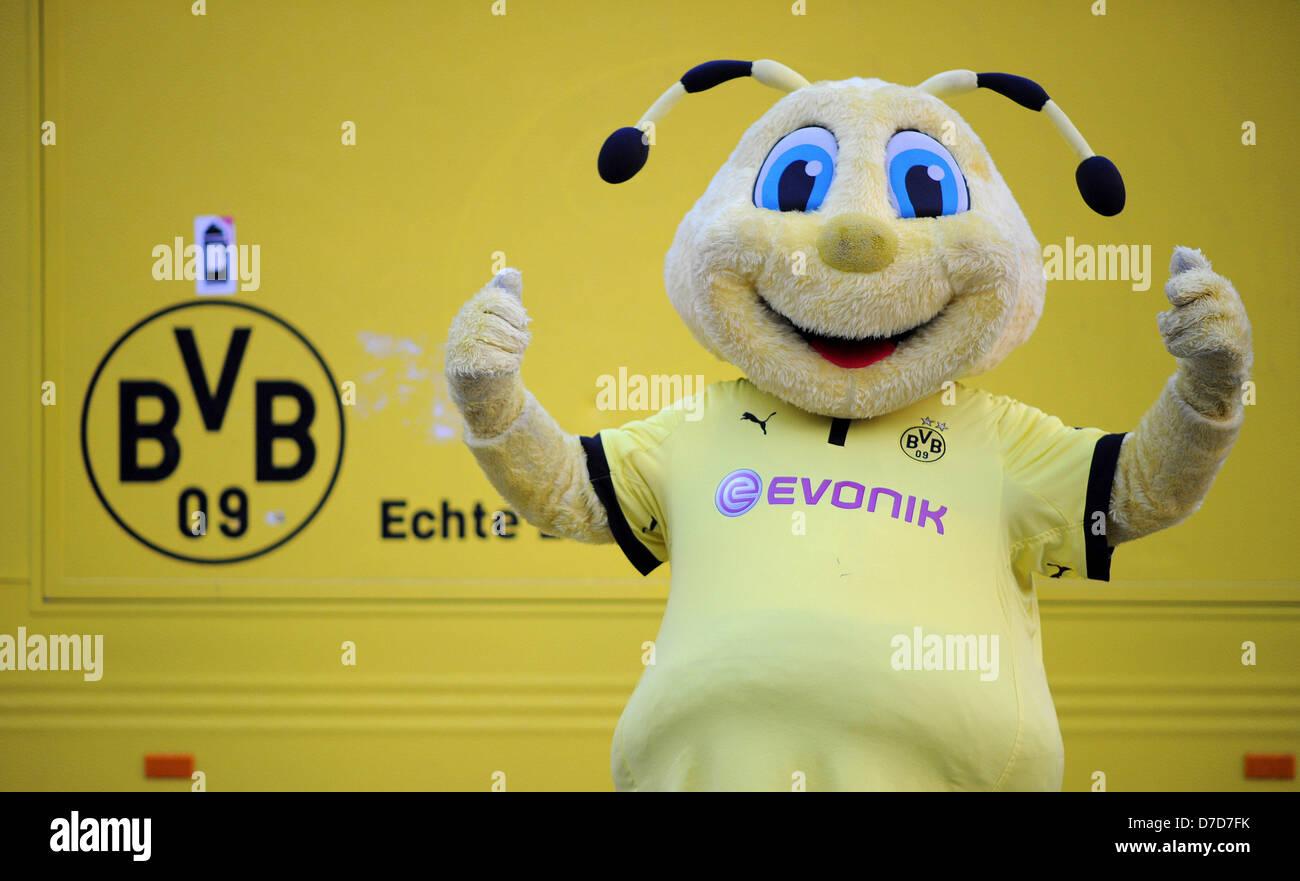 The Mascot Of Bundesliga Soccer Club Borussia Dortmund Bvb Emma Stock Photo Alamy