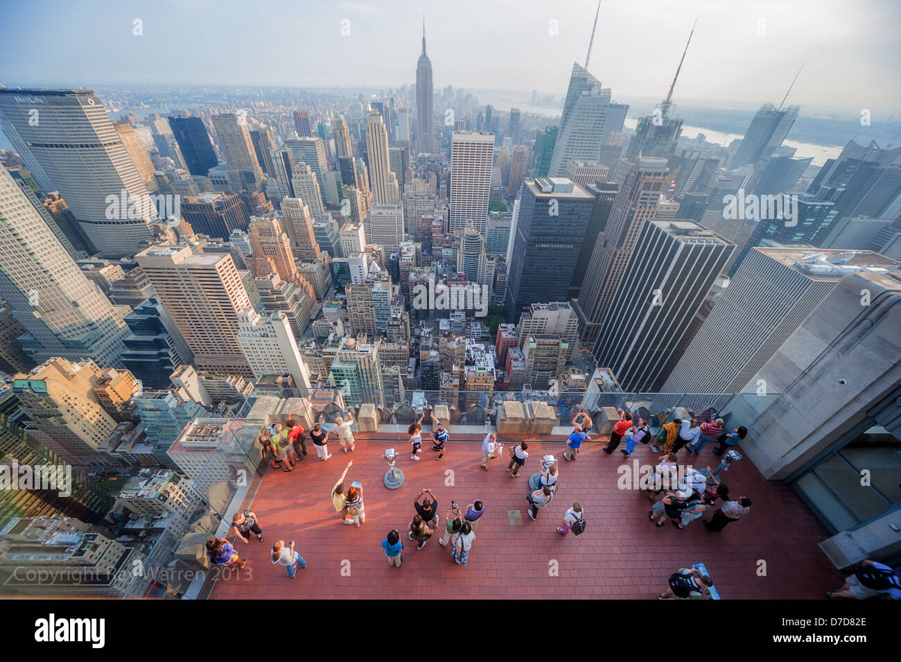 Top Of The Rock The Rockefeller Center In New York City Stock Photo