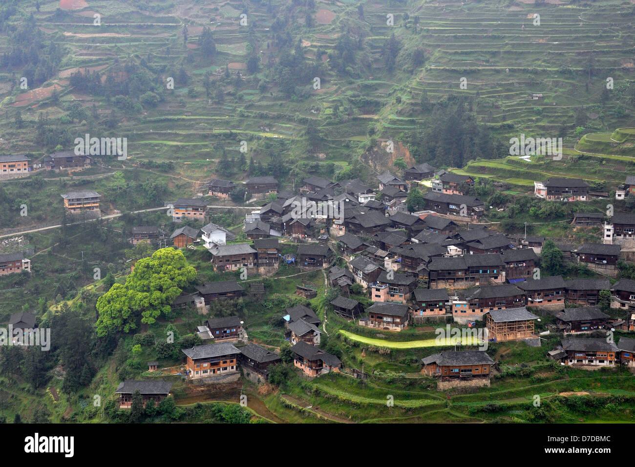 China, Guizhou province, Zhaoxing village Stock Photo