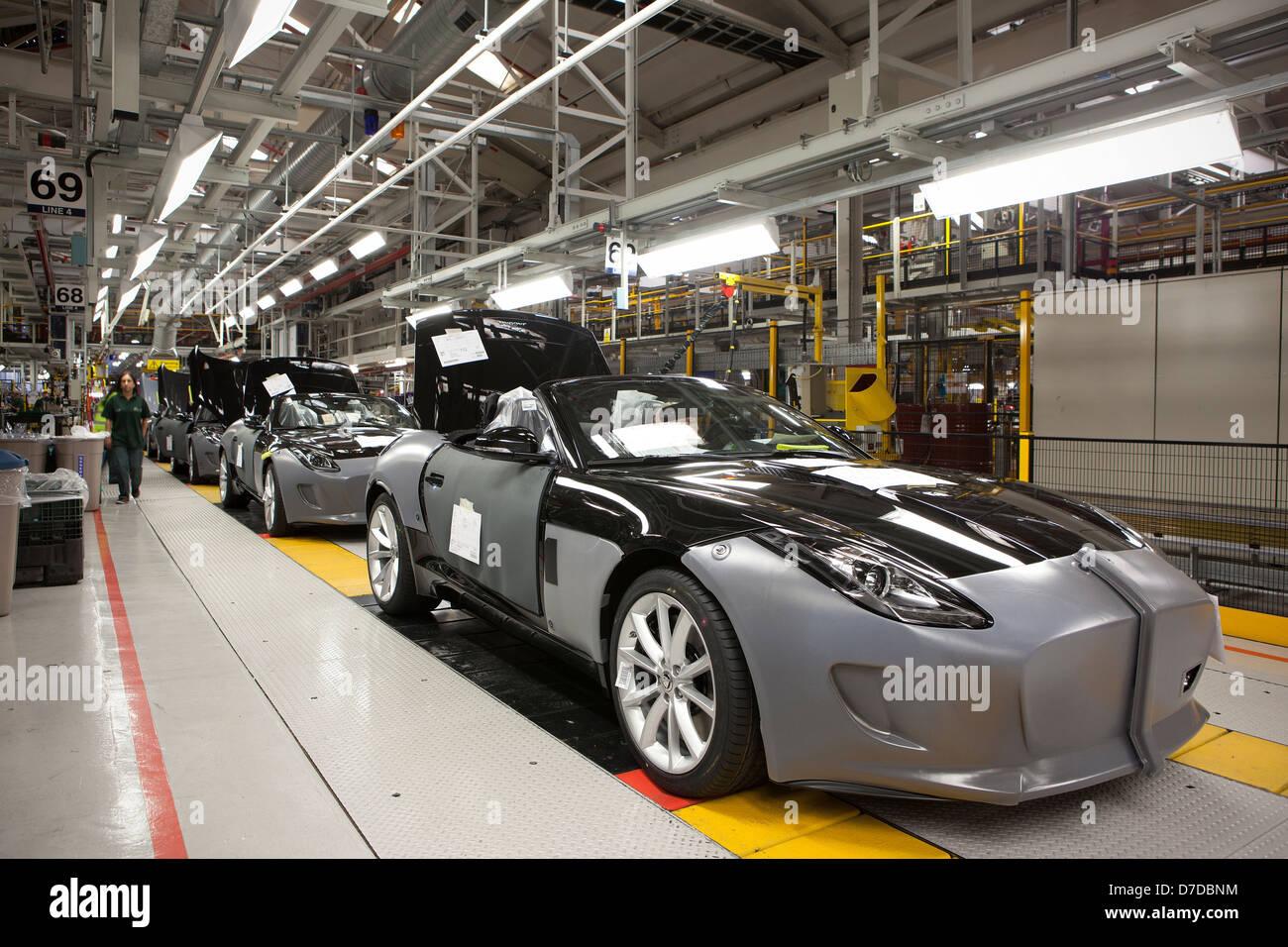 Inside Jaguar Car Plant in Castle Bromwich, Birmingham on the Stock