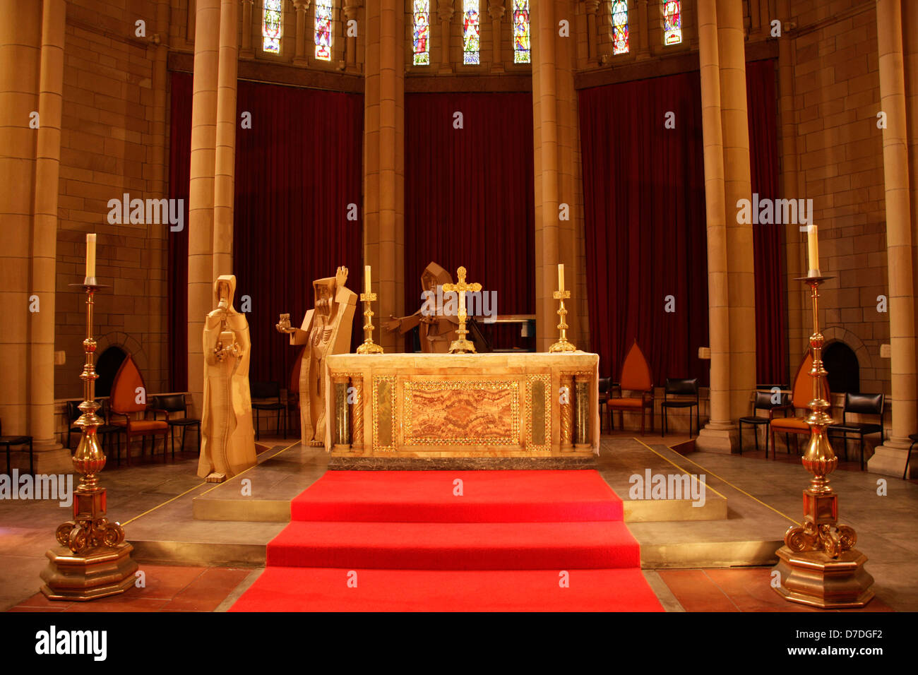 Altar inside St. John's Cathedral in Brisbane, Queensland, Australia - Stock Image