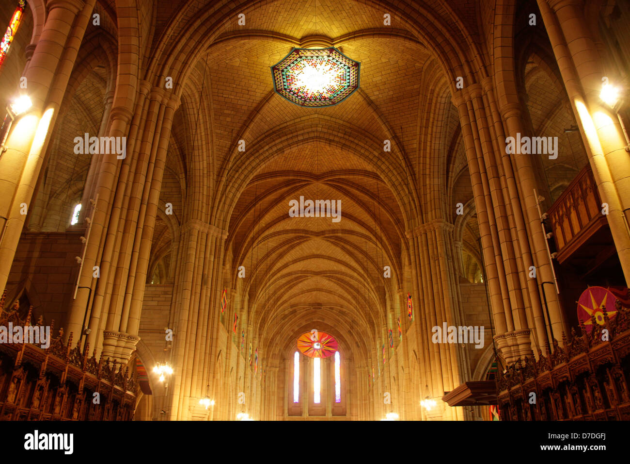 inside St. John's Cathedral in Brisbane, Queensland, Australia - Stock Image