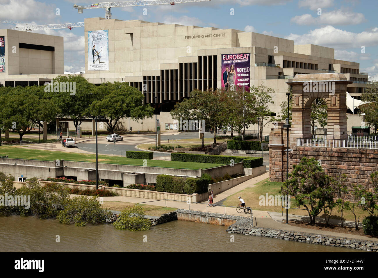 Queensland Performing Arts Center on South Bank in Brisbane, Queensland, Australien - Stock Image