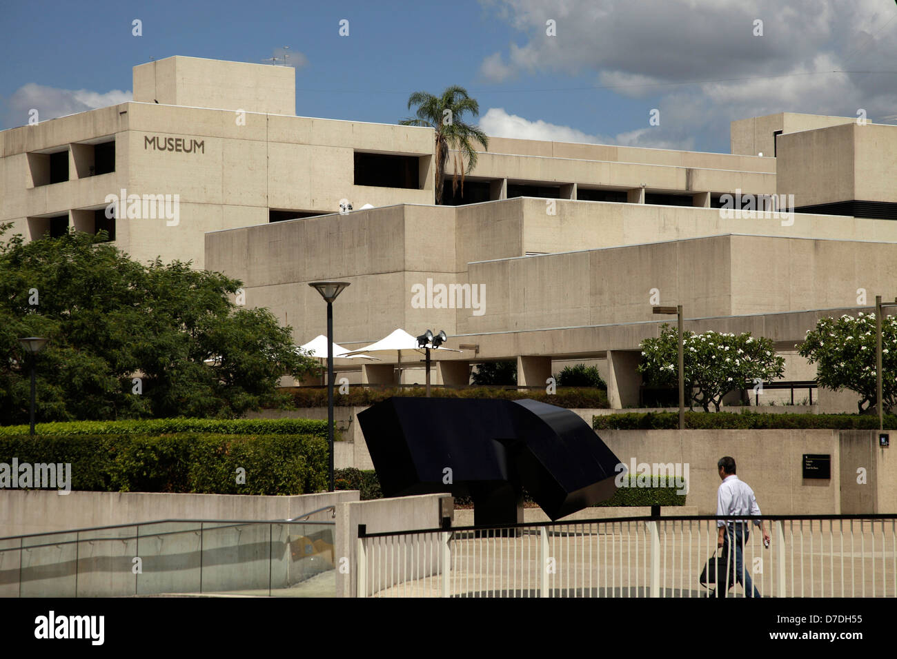 Queensland Cultural Center and Museum on South Bank in Brisbane, Queensland, Australien - Stock Image