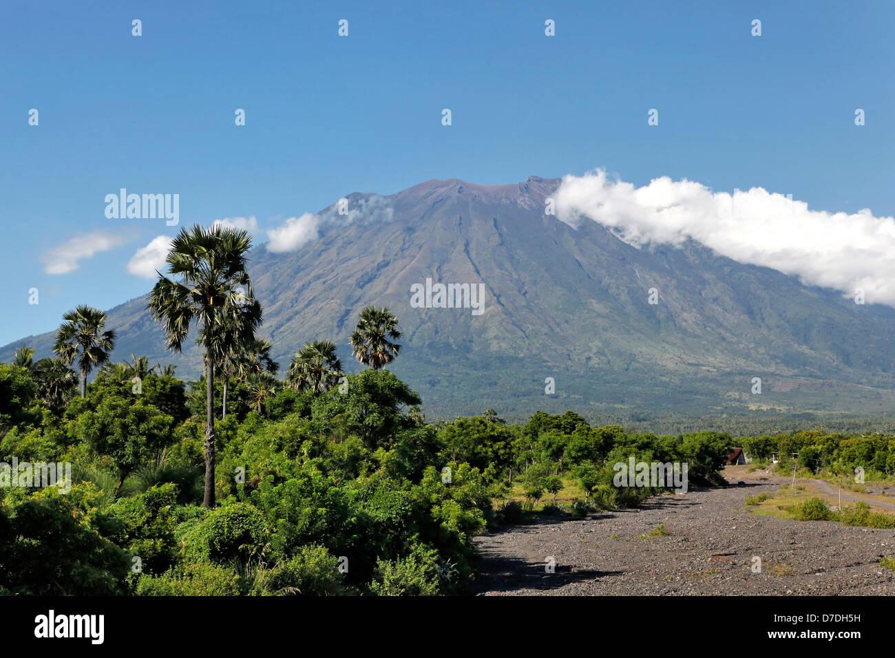 Volcano Mount Agung, Bali, Indonesien - Stock Image