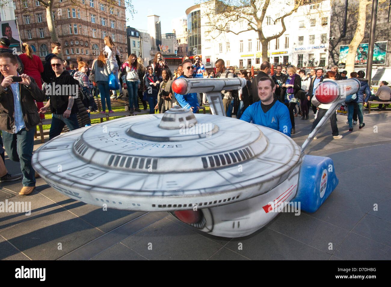 London, UK. 2nd May 2013.  Ultimate Trekkie fan Rob Wixey from Ealing, London, arrives at Star Trek Into The Darkness - Stock Image