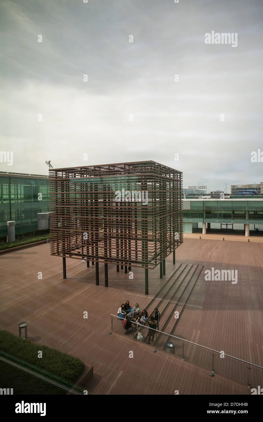 Airport Terminal 1 - Barcelona, Spain. - Stock Image