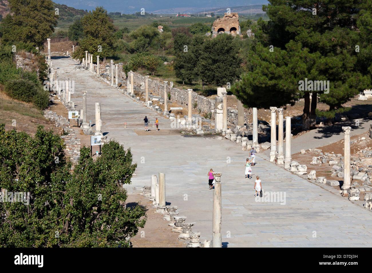 Horbour street in Ephesus, Izmir, Turkey - Stock Image