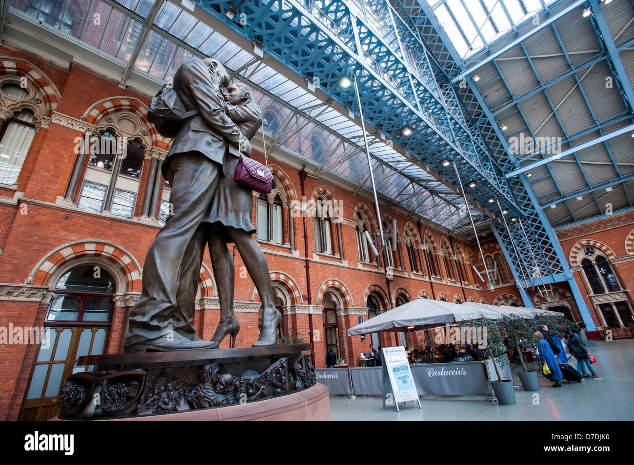 St Pancras Railway Station, Kings Cross area, London, United Kingdom - Stock Image