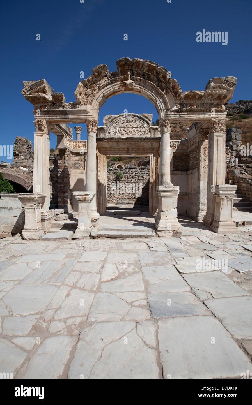 Hadrian's Temple, Ephesus, Izmir, Turkey - Stock Image