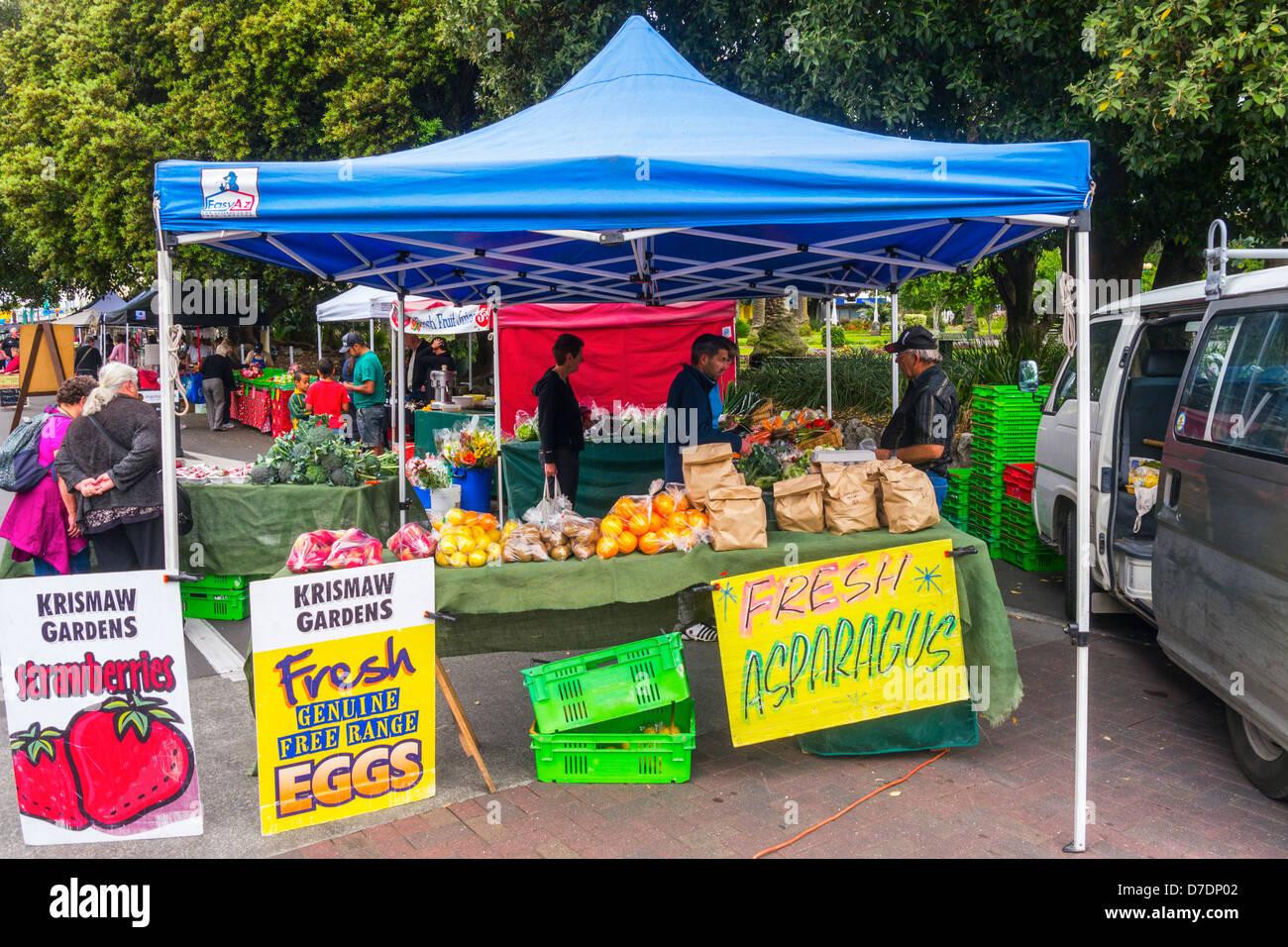 Farmer's Market, Napier, New Zealand. - Stock Image