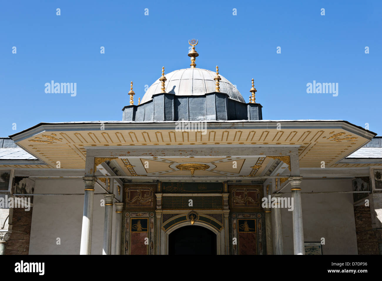 Babüssaade is 3th gate of Topkapi Palace in Istanbul, Turkey - Stock Image