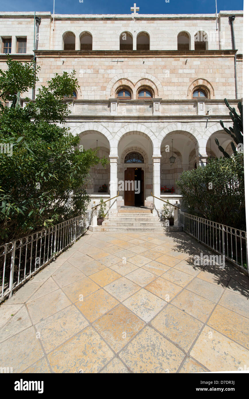 The exterior of the Austrian Hospice in Old Jerusalem - Stock Image