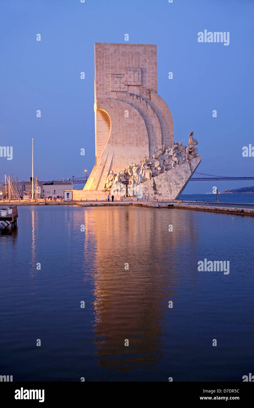 Monument to the Discoveries Padrao dos Descobrimentos in Belem, Lisbon, , Europe - Stock Image