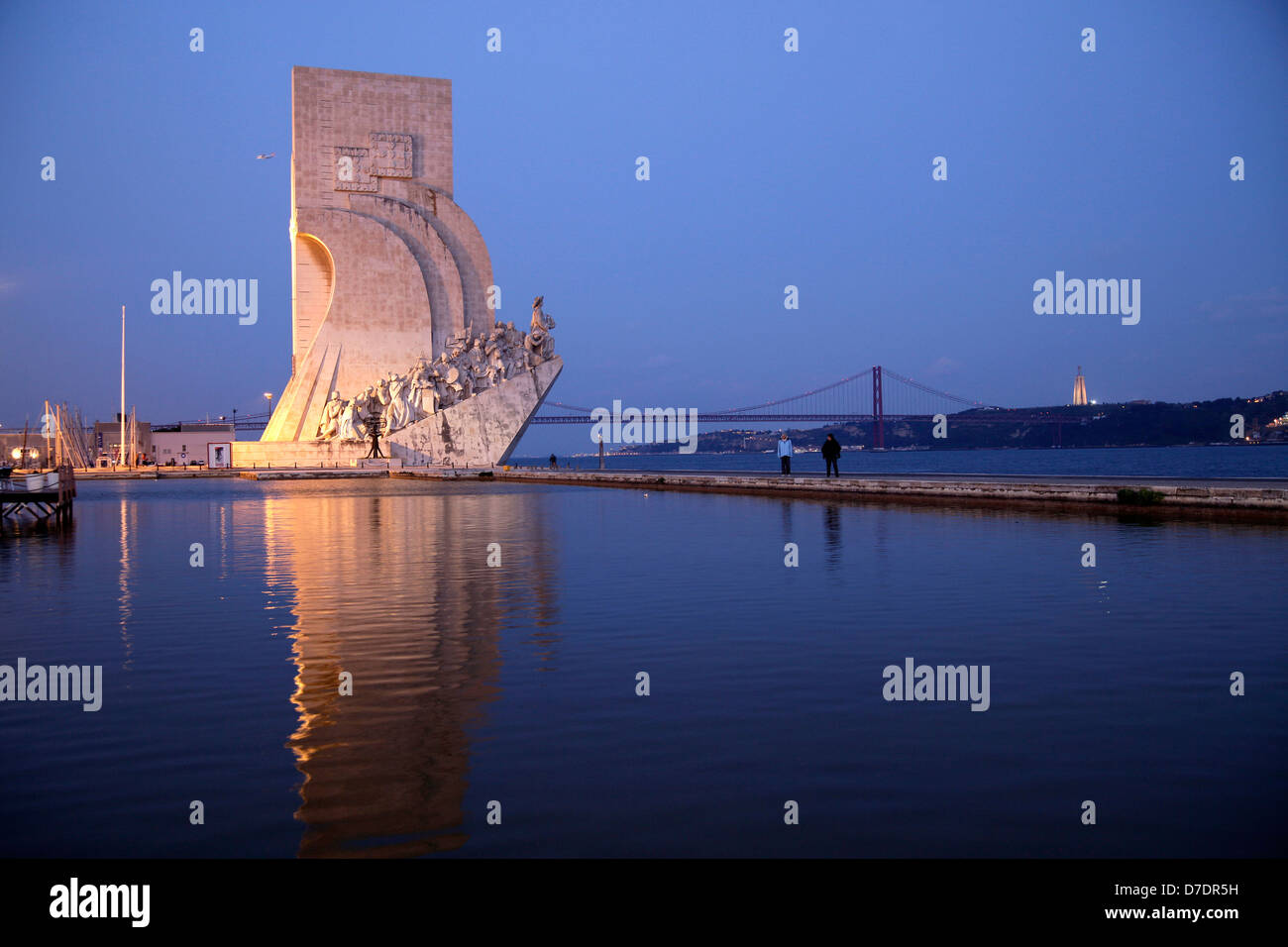 Monument to the Discoveries Padrao dos Descobrimentos in Belem, Lisbon - Stock Image