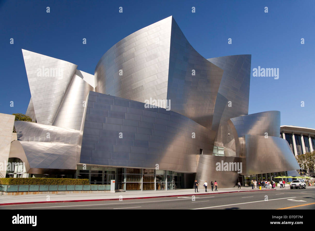 modern architecture by Frank Gehry, Walt Disney Concert Hall, Downtown Los Angeles, California, United States of - Stock Image