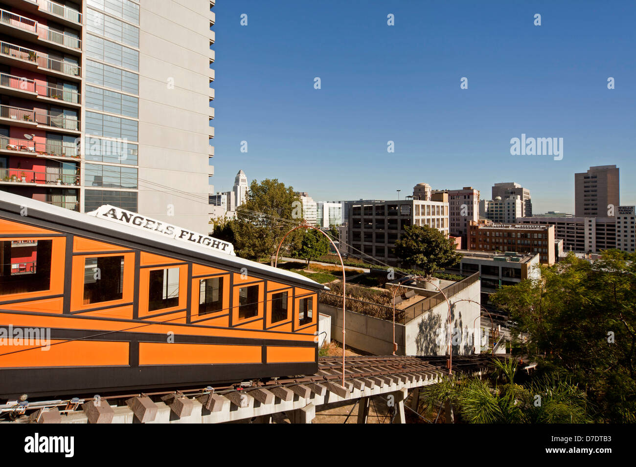 Angels Flight Railway, Downtown Los Angeles, California, United States of America, USA - Stock Image