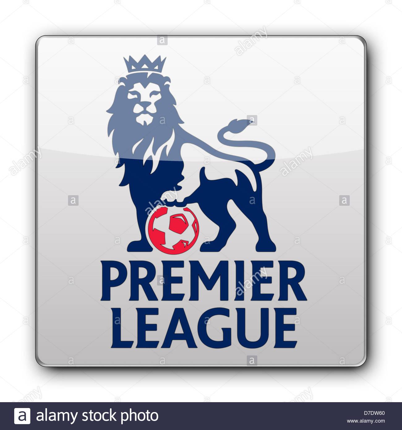 Premier League logo icon app banner flag Stock Photo