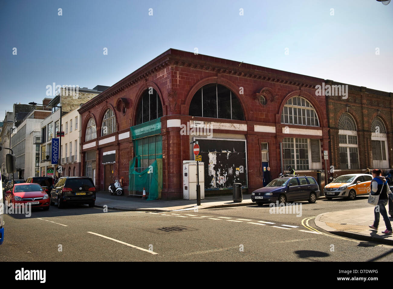 The old entrance/exit for Euston Northern Line Underground Station, London, UK - Stock Image