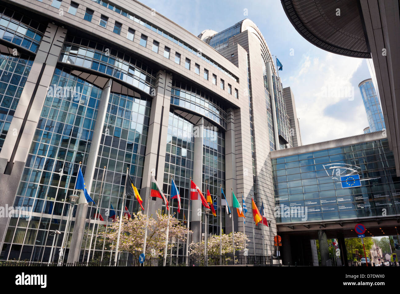 The European Parliament building, Brussels, Belgium. - Stock Image