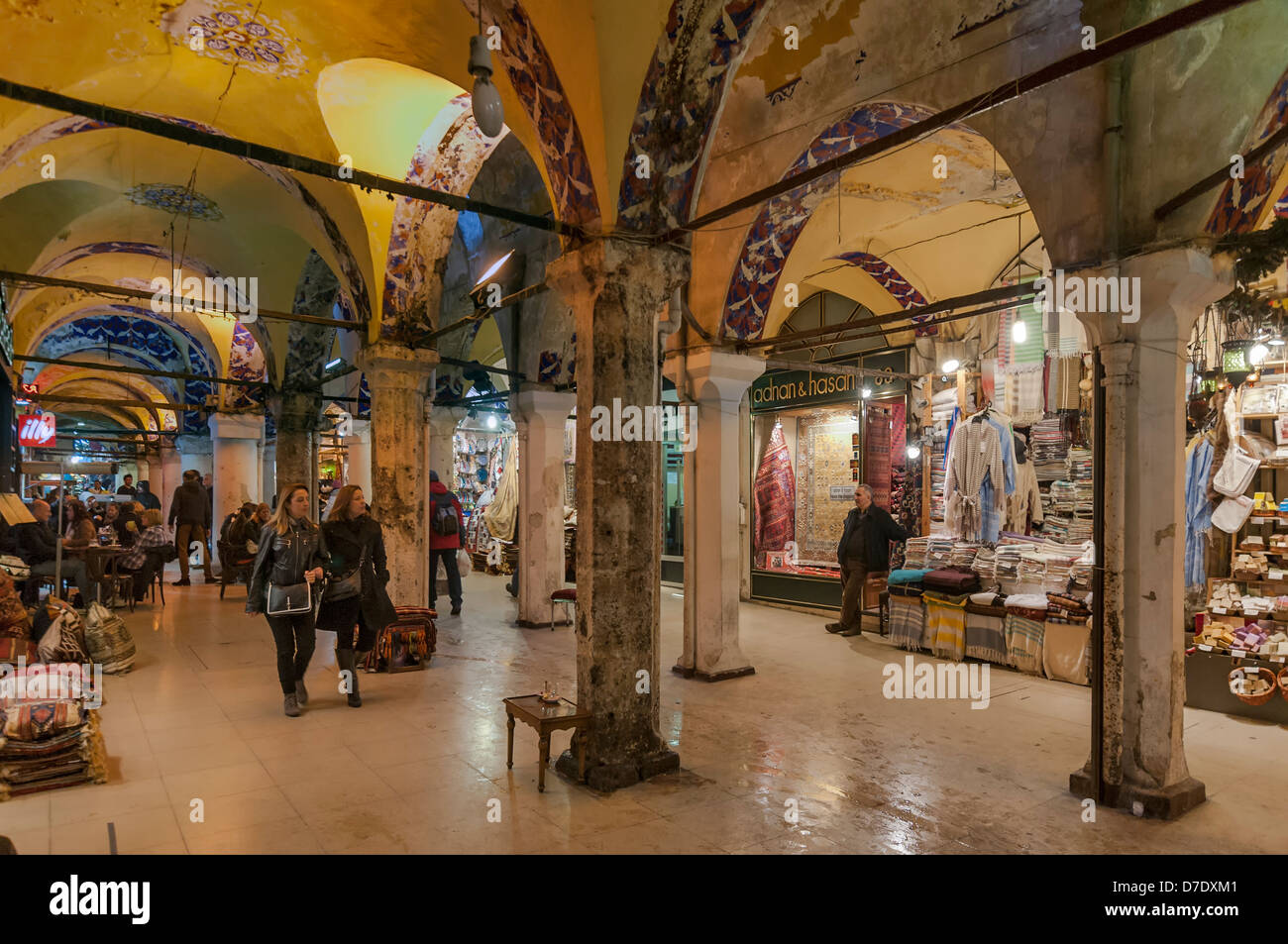 The Grand Bazaar (Covered Bazaar) in Istanbul is one of the largest and oldest covered markets in the world. - Stock Image