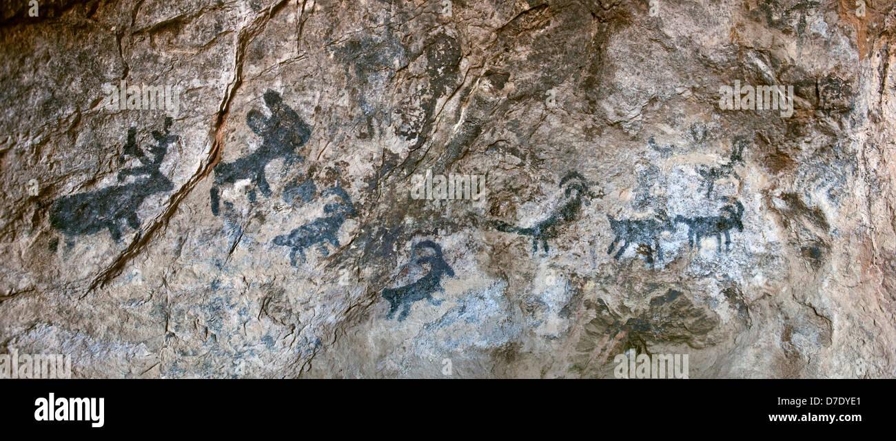 Cave Pictographs - Tucson Mountains, Tucson, AZ - Stock Image