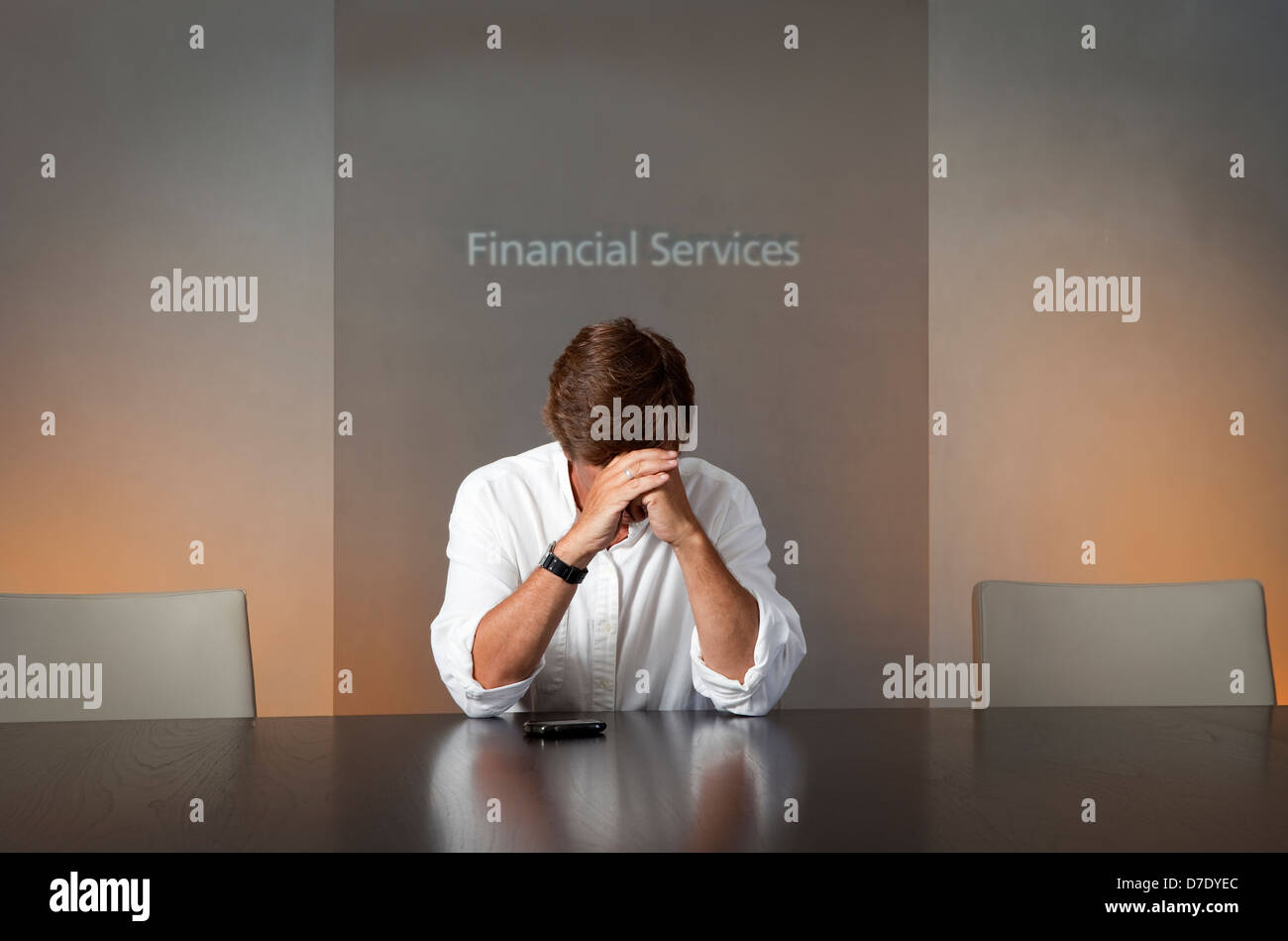 Recession... Depression... Financial Ruin - Stock Image