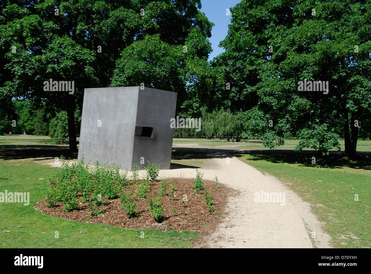 Monument to the Gay Victims of the Nazis Berlin Germany. Stock Photo